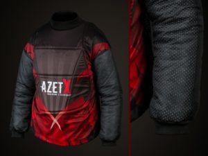 Bluza Bramkarska AZETX z kamizelką szara